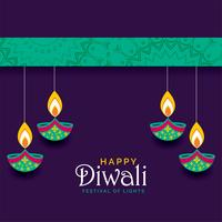 beautiful happy diwali festival greeting design