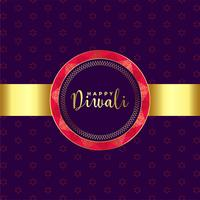 ethnic style happy diwali golden background