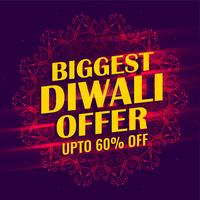 biggest diwali sale banner template design