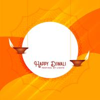 elegant diwali festival hälsning design mall