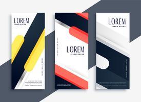 ensemble abstrait moderne de bannières géométriques