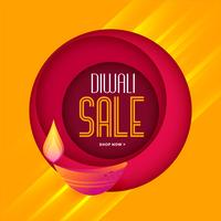 stylish diwali sale template in warm colors