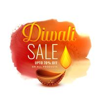 diseño de banner de venta de festival de diwali creativo