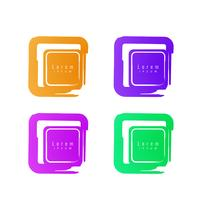 Abstracte kleurrijke het kentekenreeks van bannerpictogrammen