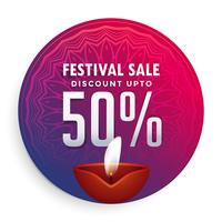 happy diwali festival sale label design