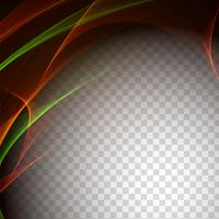 Abstract stylish wave transparent background
