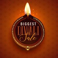 big diwali sale beautiful diya template