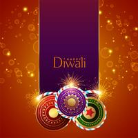 abstracte diwali festival sparkles achtergrond met crackers