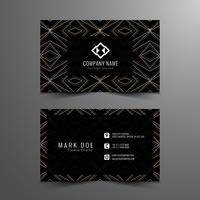 Abstract modern visiting card design
