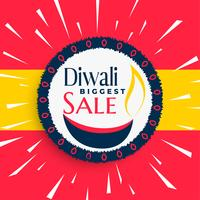 crazy happy diwali sale banner with rays burst