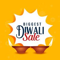 happy diwali sale yellow banner design