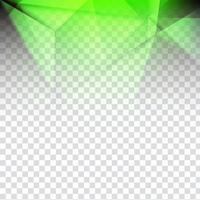 Abstract geometric polygon transparent background