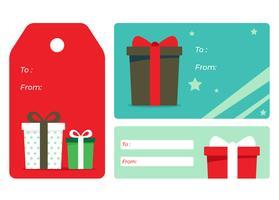 Etiquetas de regalo de vacaciones vector