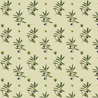 Olive Tree Pattern vector