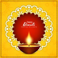 Abstract Happy Diwali background vector