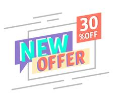 New Offer vector
