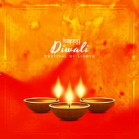Abstract elegant Happy Diwali vector background