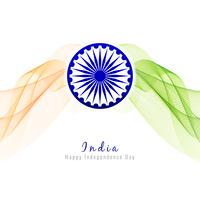 Abstract wavy Indian flag theme design background vector