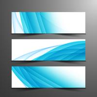 Abstract wavy modern banners set