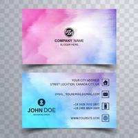 Plantilla de tarjeta de visita colorida abstracta vector