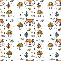 Scandinavian Fall Pattern Vector