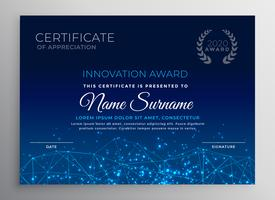 blue innovation technology template design