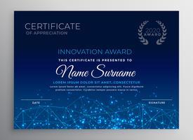 blue innovation technology template design
