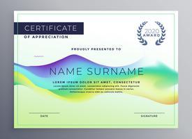 conception de modèle de certificat diplôme créatif