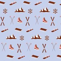 Winter Sports Objects Pattern