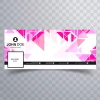 Abstract polygon facebook cover template
