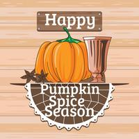 Happy Pumpkin Spice Season Illustration