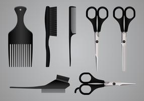 Realistische salon gereedschappen en apparatuur
