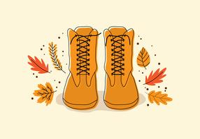 A Boots In Fall vector