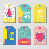 Zomer Gift Tags Vector Pack