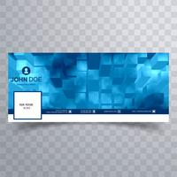 Abstract blue facebook timeline banner template vector