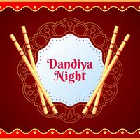 Creative Poster Or Flyer Of Dandiya Invitation Card Background