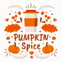 Pumpkin Spice Background Vector