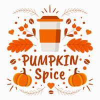 Pumpa Spice Bakgrund Vector