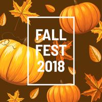 Fall Fest Background Vector