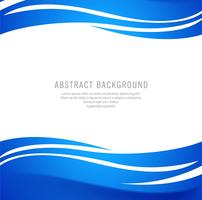 Elegant stylish blue wave background