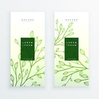 groene elegante verticale bladeren banners