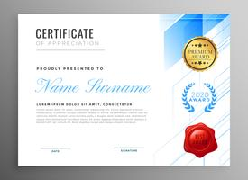 modern certificate of appreciation template design