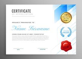 certificado moderno de design de modelo de agradecimento