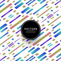 Modern colroful geometric lines pattern vector
