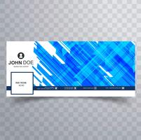 Abstract facebook timeline cover template vector