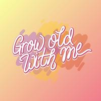 Gratis Hand Grow Old With Me Engagement Proposal Vector