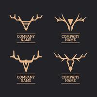 Stylized Geometric Deer Head or Stag Design