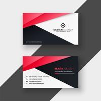 design de cartão geométrico vermelho profissional