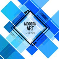 Modern blue geometric background vector