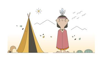 Indian Tipi Vector